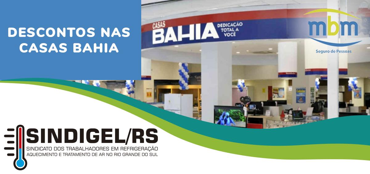 90b7a95fc Trabalhadores parceiros do SINDIGEL/RS têm direito a 40% de desconto nas  Casas Bahia