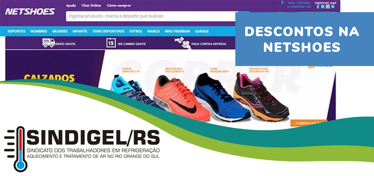 78304ab0c Trabalhadores que são parceiros do SINDIGEL/RS têm direito a desconto na  Netshoes